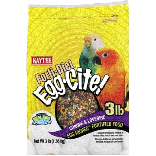 Forti-Diet Egg-Cite! Conure and Lovebird Bird Food - 3 lb. Best Price