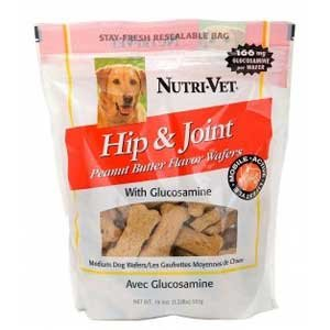 Hip And Joint Medium Peanut Butter Flavored Wafers For Dogs 19.5 Oz.