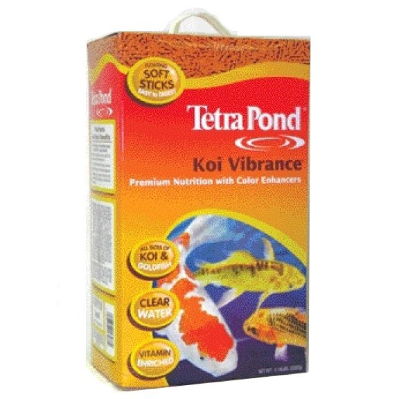 Koi vibrance food for koi pond fish size lbs for Koi pond size