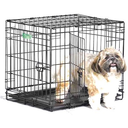 Icrate Double Door Dog Crate / Size 24 In.