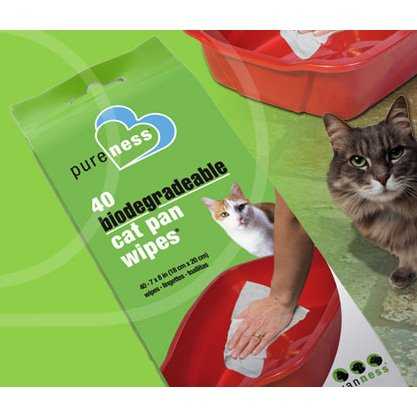 Biodegradable Cat Pan Wipes - 40 pk