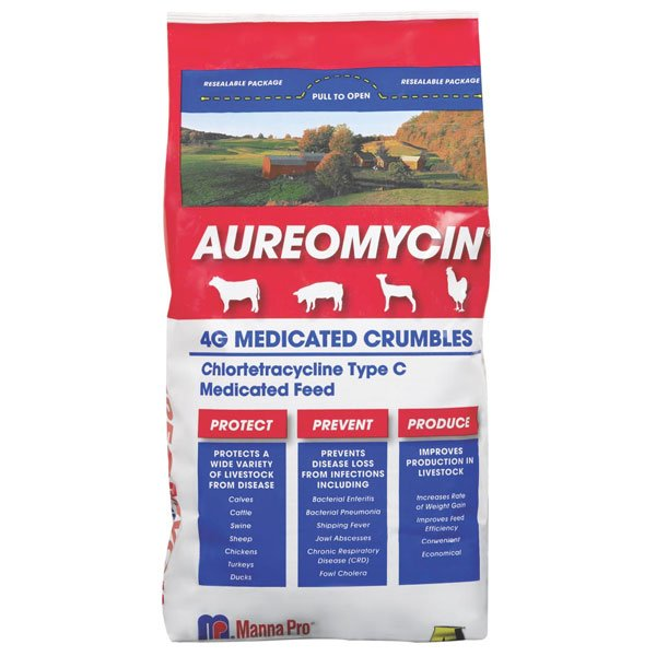 Aureomycin 4G Medicated Crumbles 5 lb Best Price