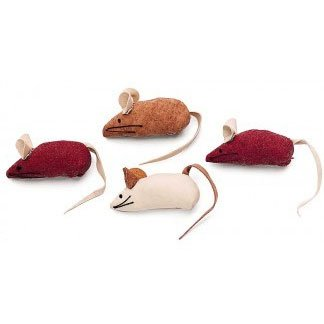 Faux Suede Mice Cat Toy - 4 pack Best Price