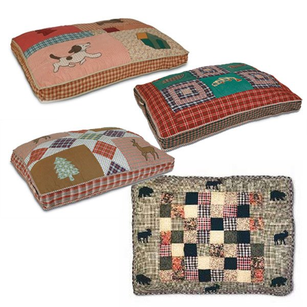 Quilted Applique Pet Bed 30x40