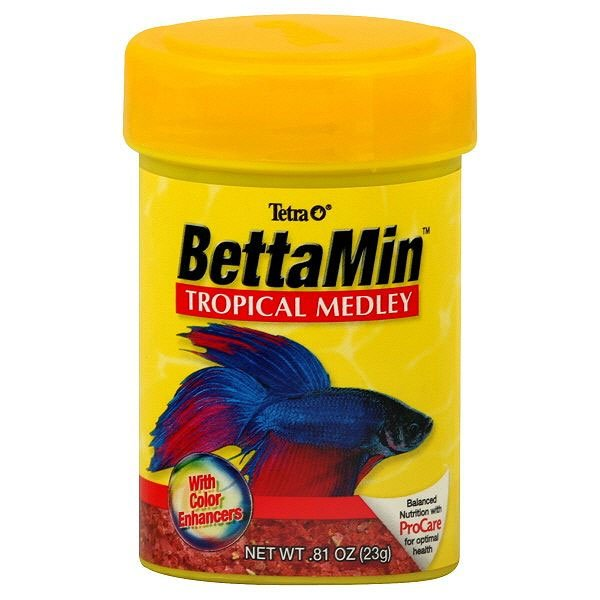 Bettamin tropical medley oz aquarium supplies for Food for betta fish