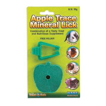 Apple Mineral with Holder for Small Animals Best Price