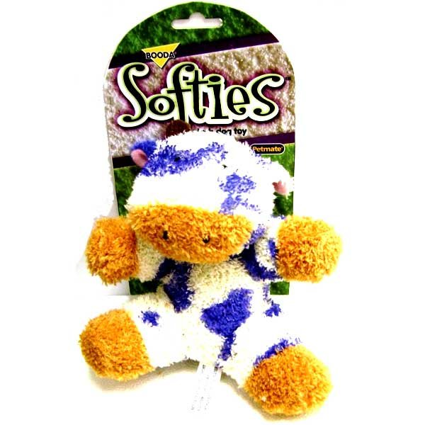 Booda Softies Terry Cow Dog Toy Best Price
