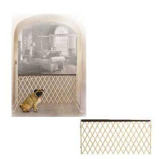 Wood and Plastic Accordion Pet Gate - 24-60IN X 32IN Best Price