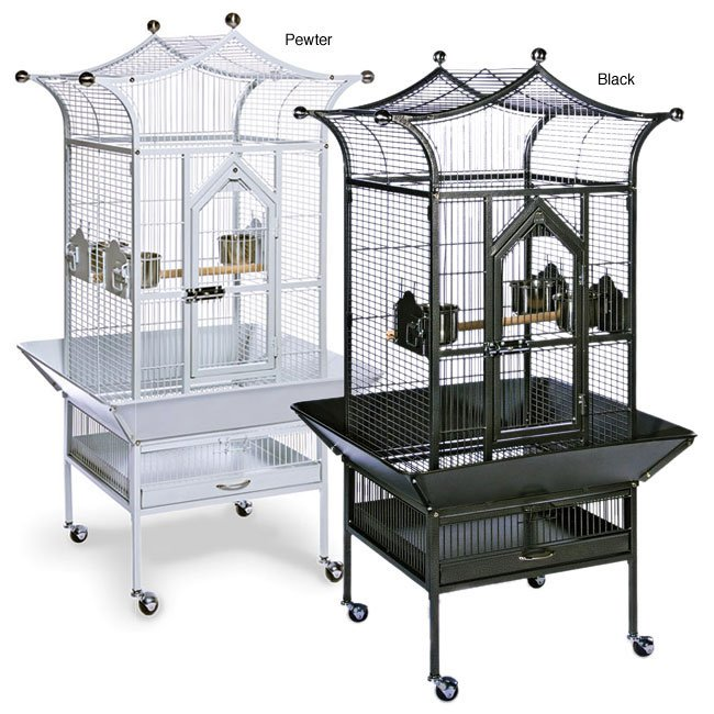 Royalty Bird Cage 20x20x57 in. - Black Best Price