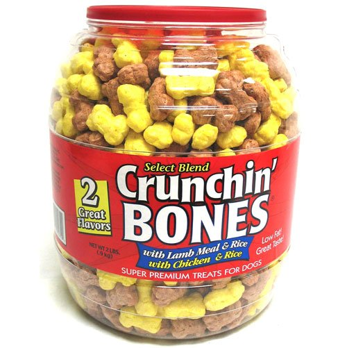 Crunchin Bones Barrel For Dogs 2 Lbs Case Of 2