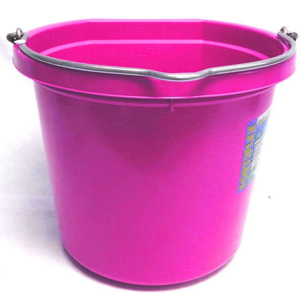 Flat Back 20 quart Bucket / Color (Hot Pink) Best Price