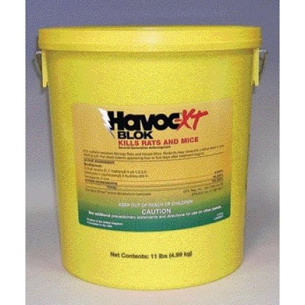 Havoc-XT Blok Kills Rats and Mice / Size (250 pieces - 11 lbs.) Best Price
