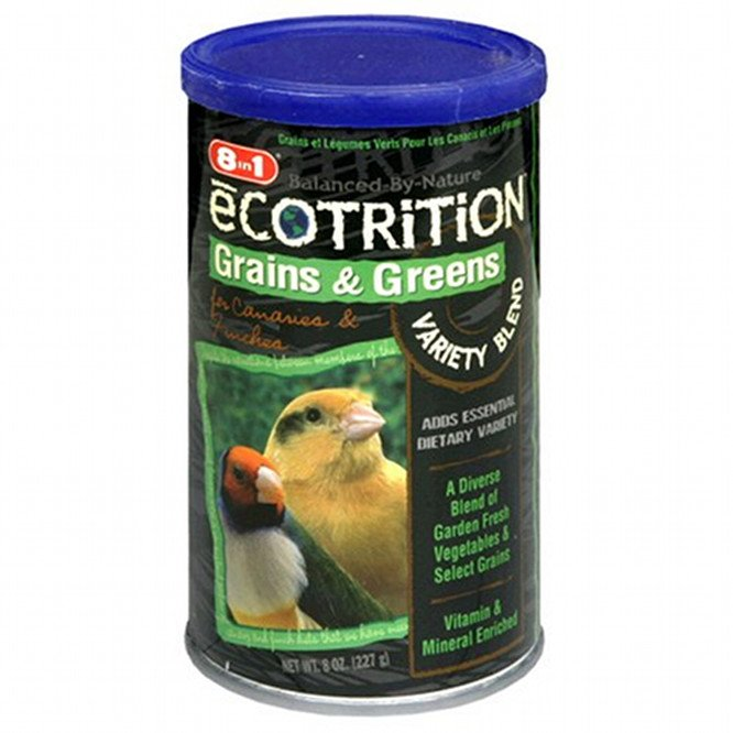 Ecotrition Grains And Greens Variety Blend Canary / Finch 8 Oz.