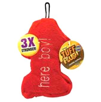 Tuff Plush Cookie Cutter Dog Toy / Size (Large Here Boy)