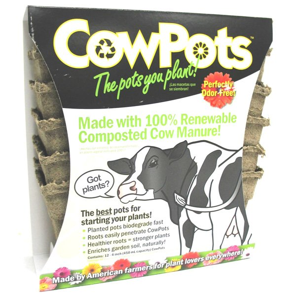 CowPots Horticultural Container / Size (4 in. 12 pack) Best Price