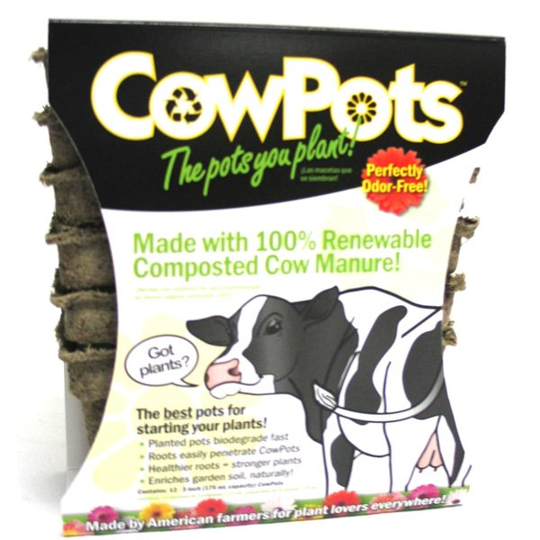CowPots Horticultural Container / Size (3 in. 12 pack) Best Price