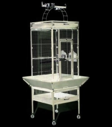 Cockatiel Cage w/ Play Top 18x18x57 in. / Color (Chalk White) Best Price