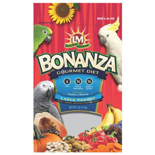 Bonanza Large Parrot Food - 4 lbs Best Price