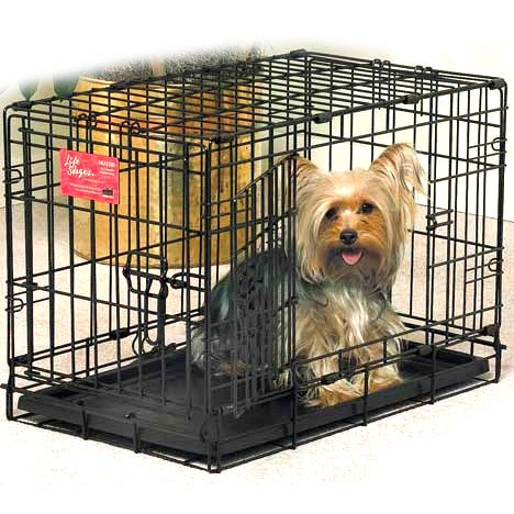 Life Stages Double Door Dog Crate / Size 22l X 13w X 16h