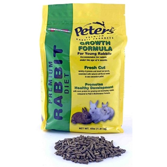 Peters Growth Diet for Rabbits 4 lb Best Price