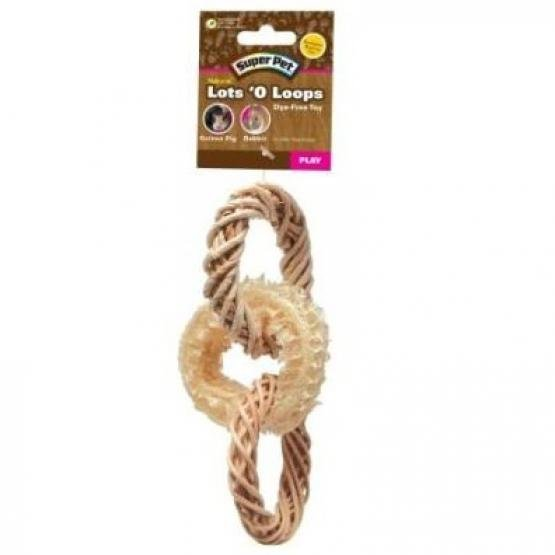 Super Pet Natural Lots  O Loops Toss Toy Best Price
