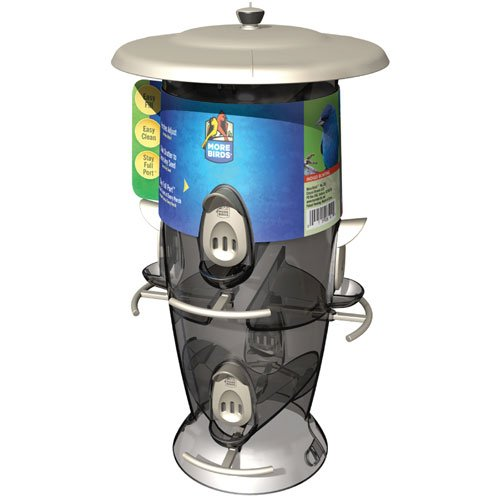 Abundance 6 Port Birdfeeder - Silver Best Price