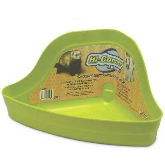 Hi Corner Litter Pan For Small Animals