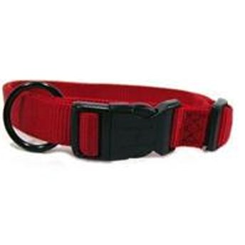 Adjustable 1 In. Dog Collar 18 26 In / Color Red