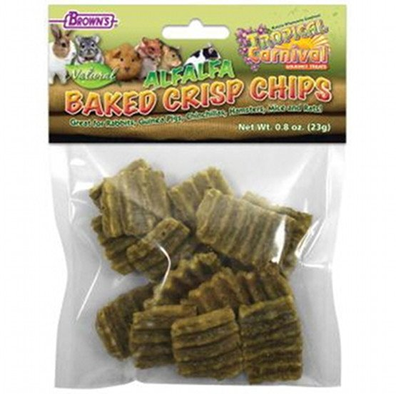 Tropical Carnival Alfalfa Baked Crisp Chips for Small Pets - 0.8 oz. Best Price
