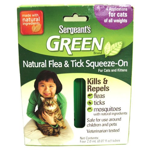 Green Flea and Tick Squeeze-on for Cats / 4 pack