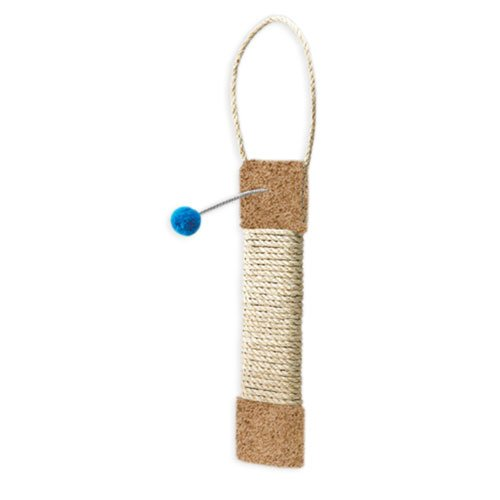Kitty Door Hanging Toy with Sisal and Pom Pom - 19 in. Best Price
