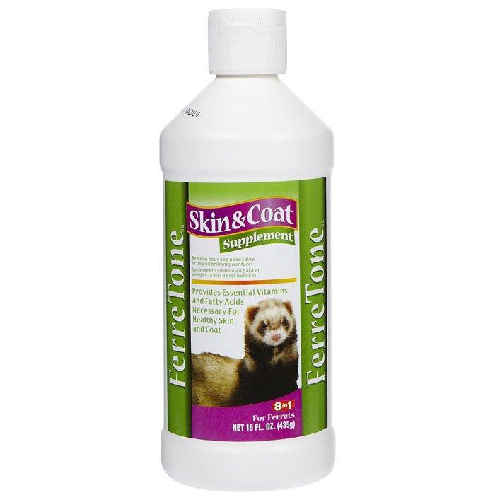 Ferretone Skin And Coat Liquid For Ferrets / Size 16 Oz.
