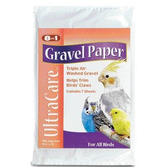 8 in 1 Avian Gravel Paper for Bird Cages / Size (9 1/2 x 15 in.) Best Price
