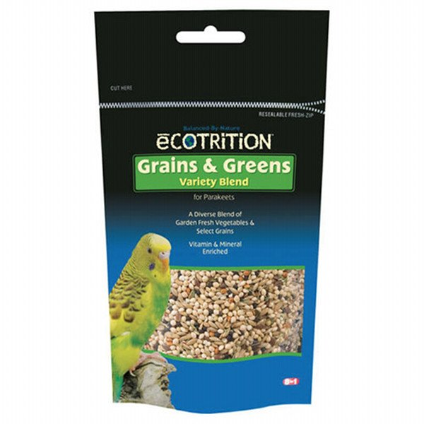 Ecotrition Grains And Greens Variety Blend Parakeet 8 Oz.