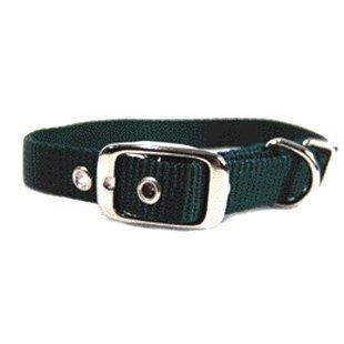 Nylon Dog Collar W/ Tongue Buckle / Size 5/8 X 18 In. / Hunter