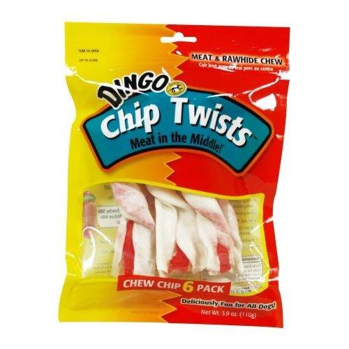 Dingo Chip Twists Rawhide Dog Chew 6pk 3.9 Oz.