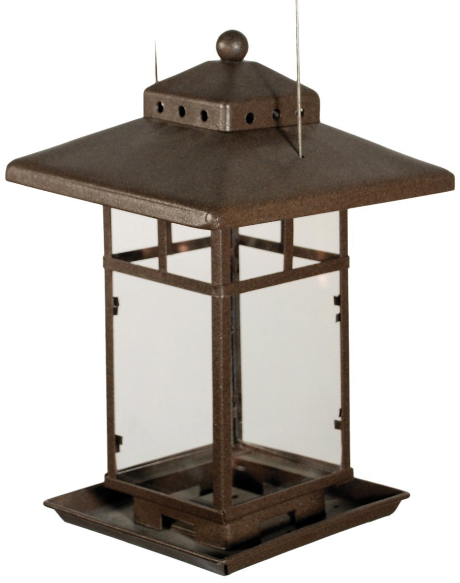 Metal Square Lantern BirdFeeder Best Price