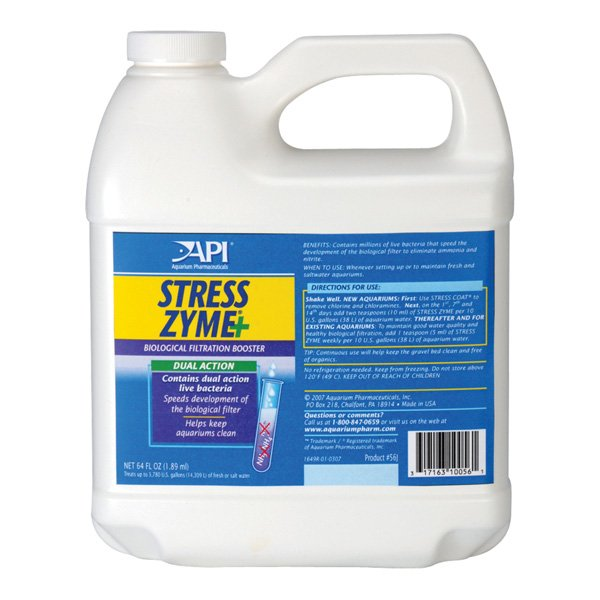 Stress Zyme For Naturally Balanced Aquariums 64 Oz.