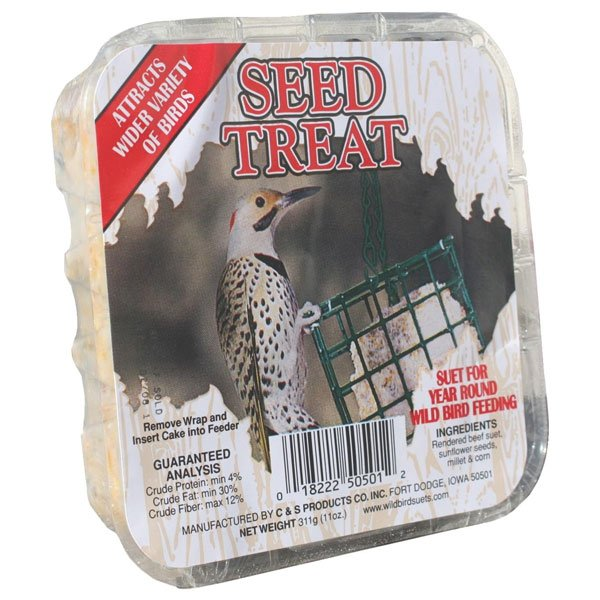 Seed Suet Treat for Wild Birds  (Case of 12)