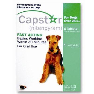 Capstar Pet Flea Treatment - over 25 lbs. Best Price