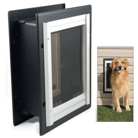 Large Wall Entry Aluminum Pet Door 14.75 x 21.5 in. Best Price