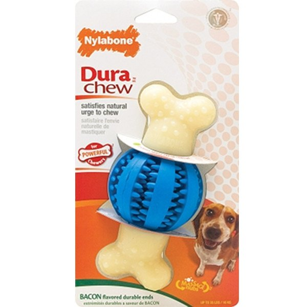 Double Action Dental Dog Toy / Shape Round