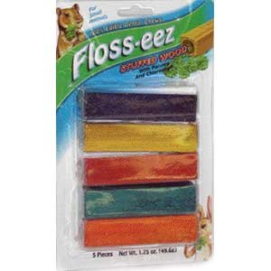 Floss-eez Stuffed Wood Small Animal Chew - 5 pk. Best Price
