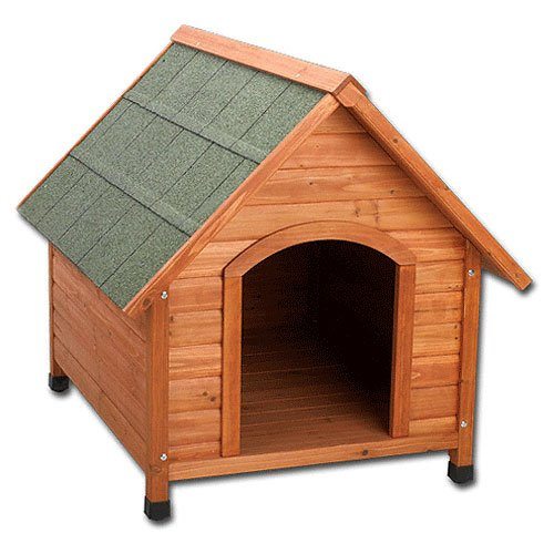 Premium + Aframe Doghouse - Natural Wood / Size (Medium) Best Price
