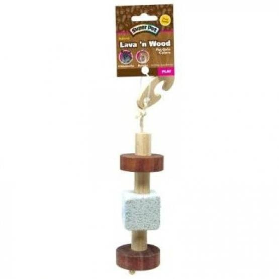 Super Pet Natural Pumice And Wood Hanging Toy Best Price