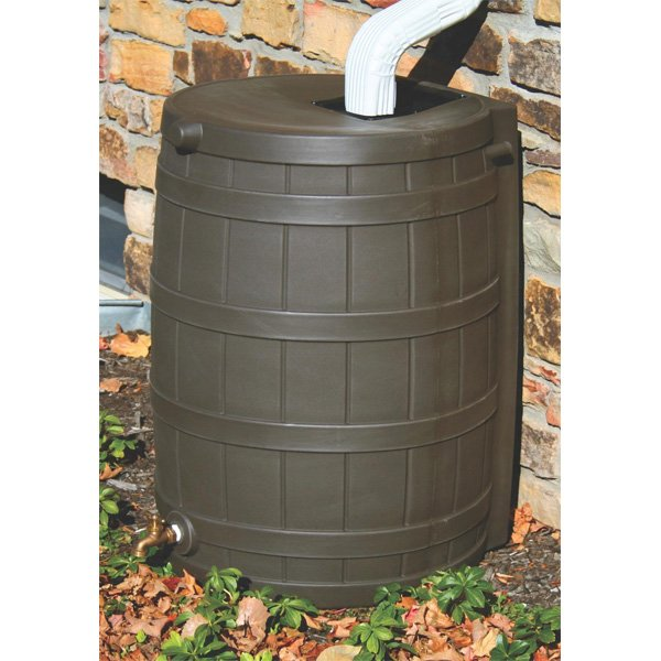 Rain Wizard Rain Water Barrel / Color (Oak) Best Price