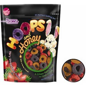 Hoops and Honey Strawberry Flavor Small Pet Treats 4 oz Best Price