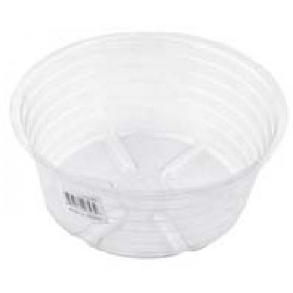 Deep Clear Plastic Saucer (Case of 25) / Size (14 in.) Best Price