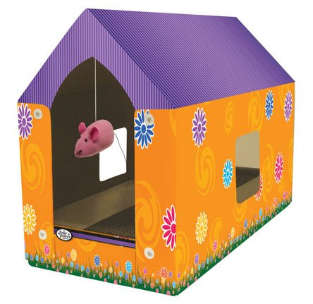 Super Catnip Cat Scratcher House Best Price