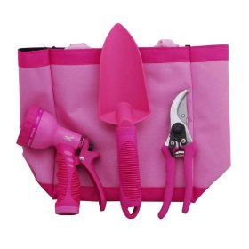 Breast Cancer Awareness 4 piece Garden Tool Set Best Price